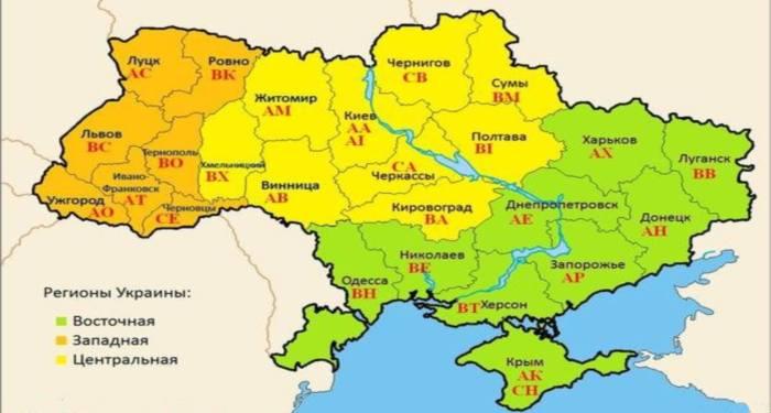 автомобильные номерные знаки Украины